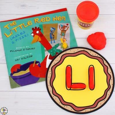 Pizza Alphabet Play Dough Mats