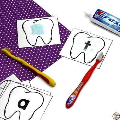 Tooth Brushing Alphabet Activity