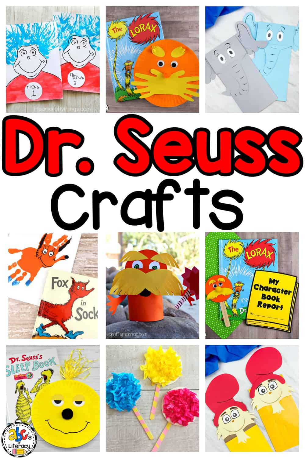 Dr. Seuss Inspired Crafts for Kids Roundup