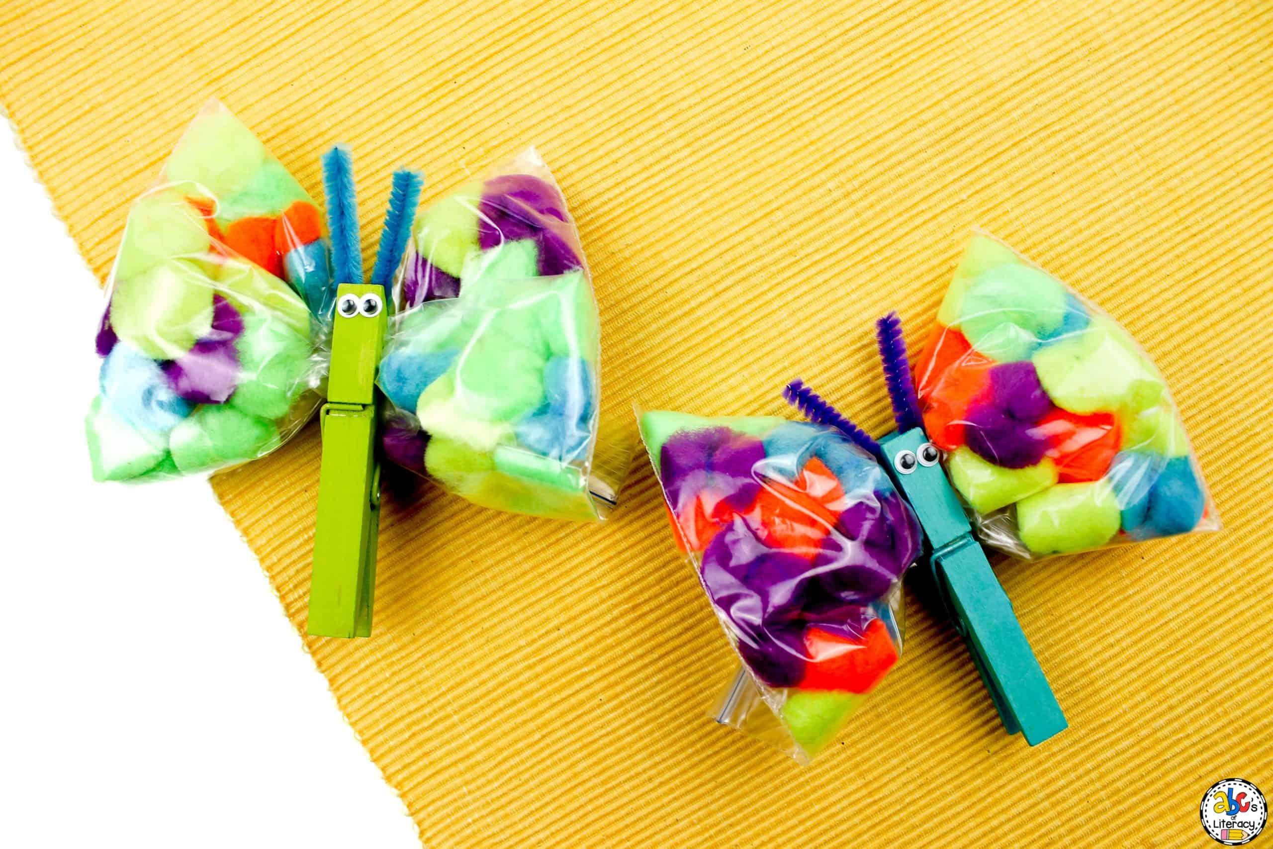 Pom Pom Butterfly Craft