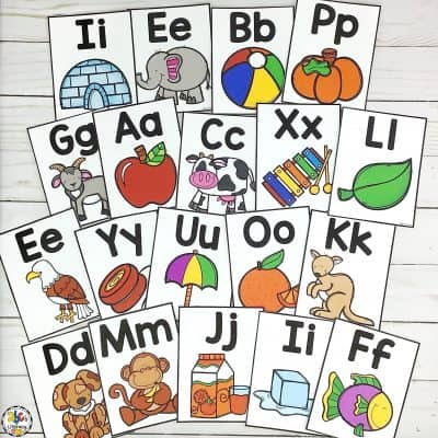 Printable Alphabet Posters: Letter Knowledge Resource