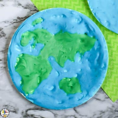 How To Make A Puffy Paint Earth Craft