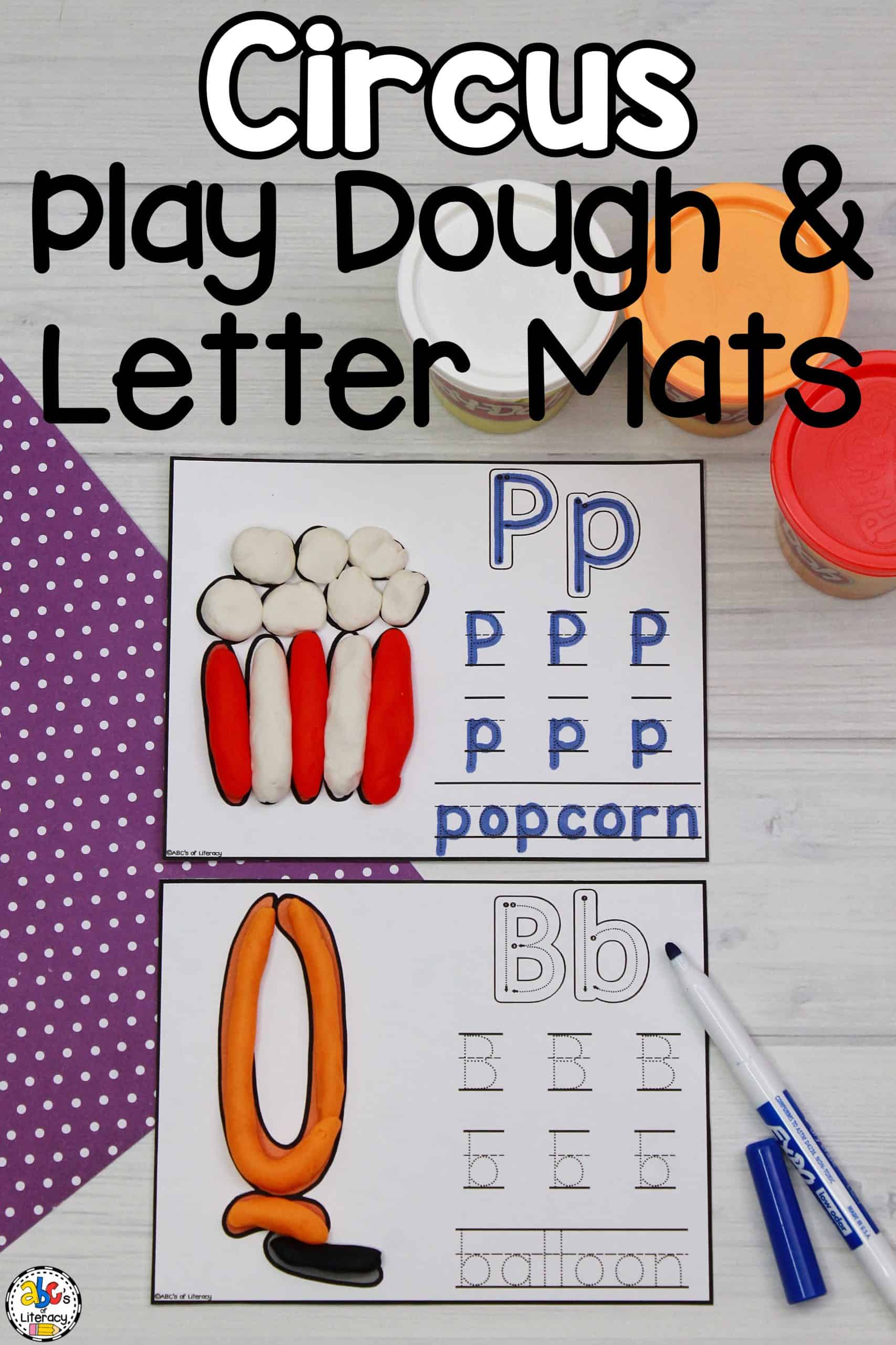 Circus Play Dough & Letter Mats