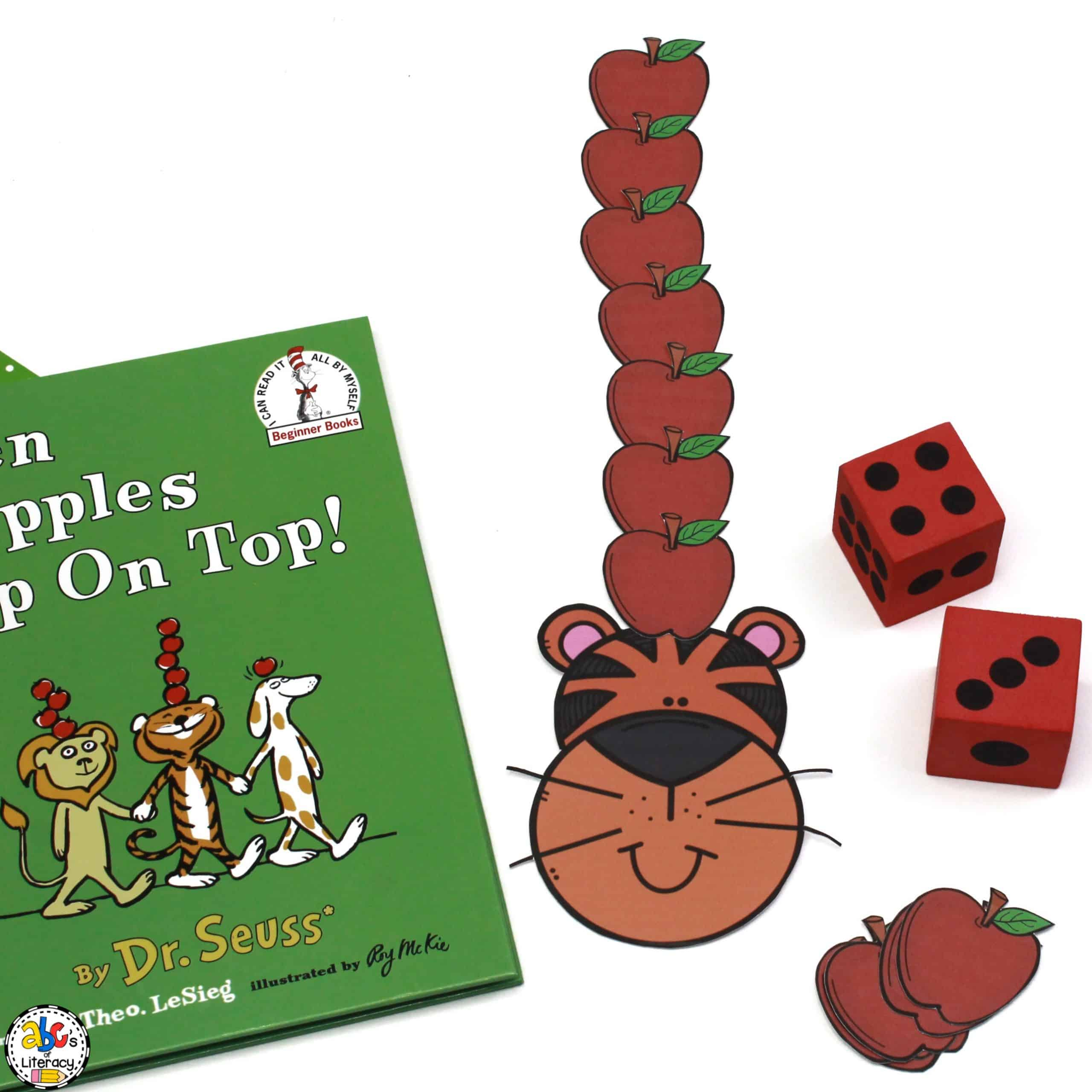 Apples Up On Top Inspired Math Game