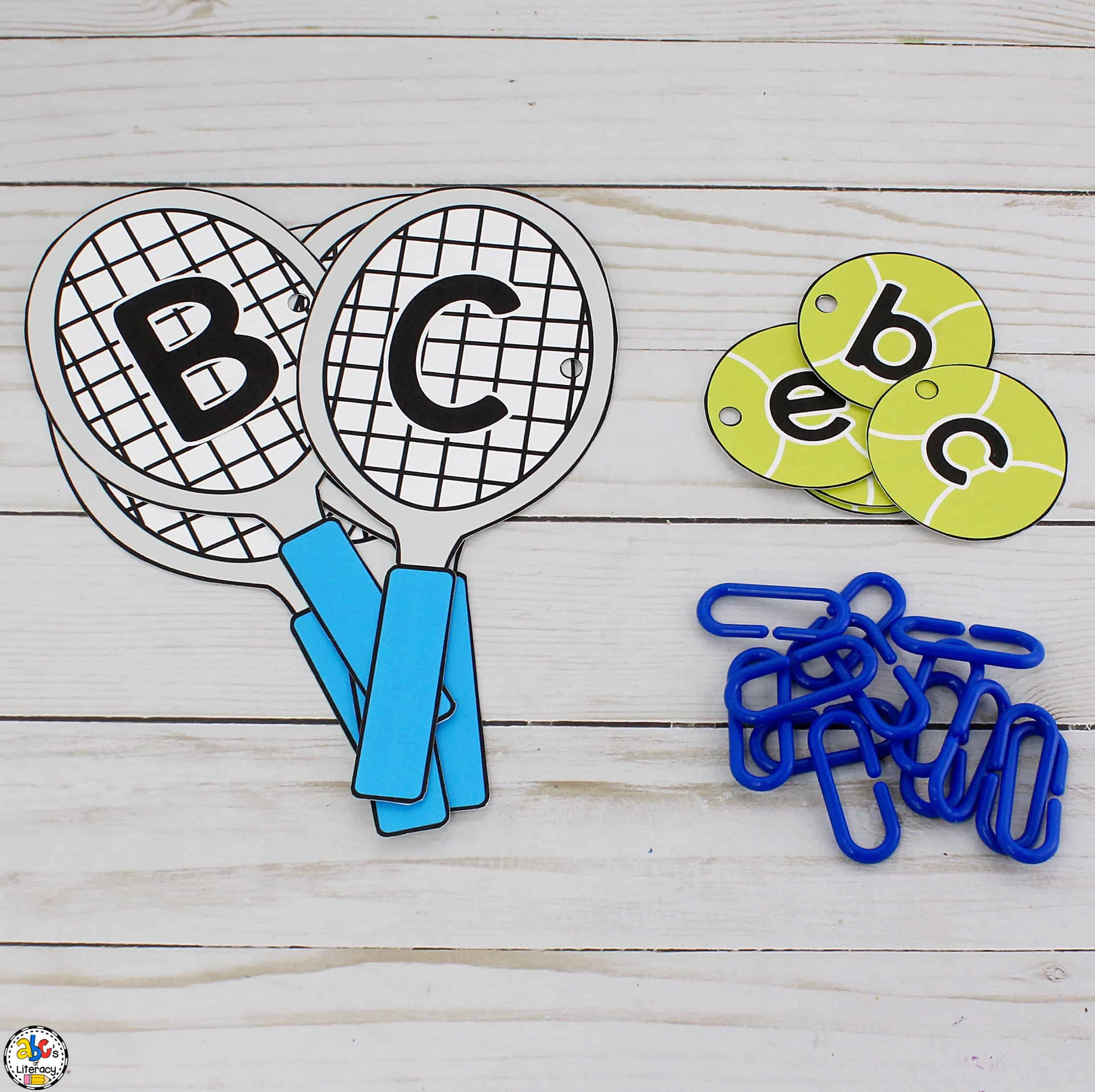 Tennis Alphabet Activity