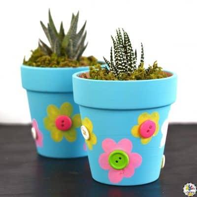 How To Make A Fingerprint Flowerpot Craft