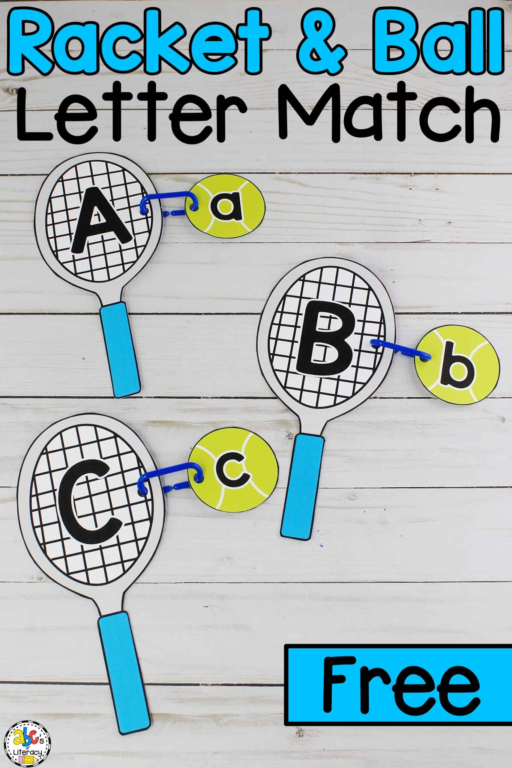 Tennis Racket & Ball Letter Match