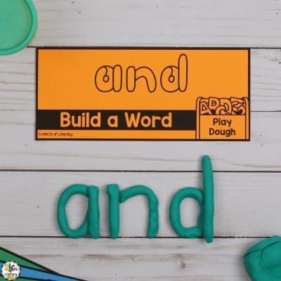 Play Dough Sight Word Cards