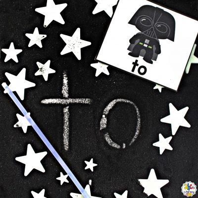 Star Wars Sight Word Writing Tray